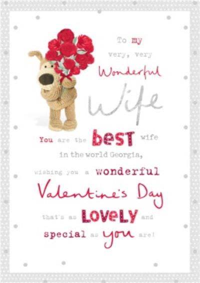 Cute Boofle To my Wonderful Wife Valentine's Day Card