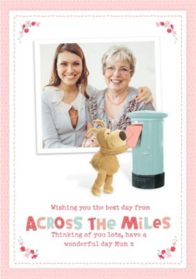 Cute Boofle Across The Miles Photo Upload Mother's Day Card