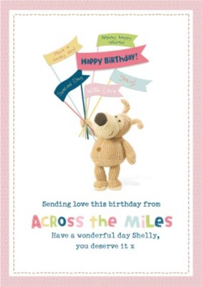 Cute Boofle Sending Love Across The Miles Birthday Card