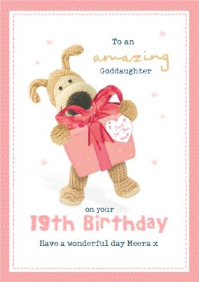 Boofle Amazing Goddaughter 19th Birthday Card