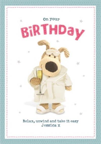 Boofle Relax Unwind Birthday Card