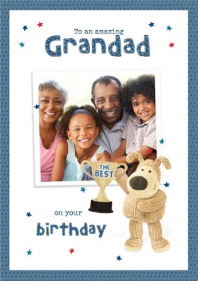 Cute Boofle Amazing Grandad Photo Upload Birthday Card