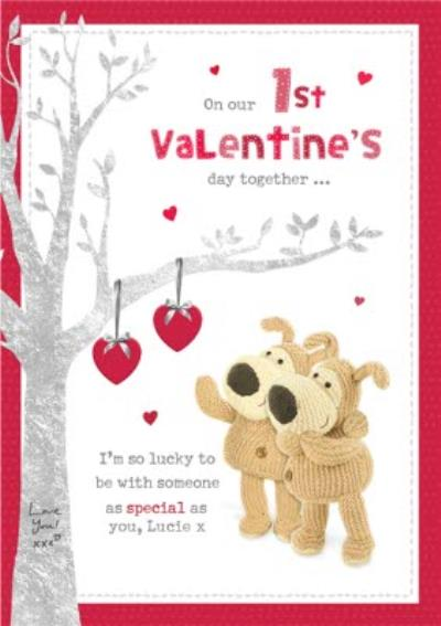 Cute Boofle 1st Valentine's Day Together Valentine's Day Card