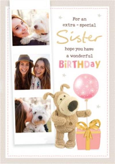 Boofle For An Extra Special Sister Photo Upload Birthday Card