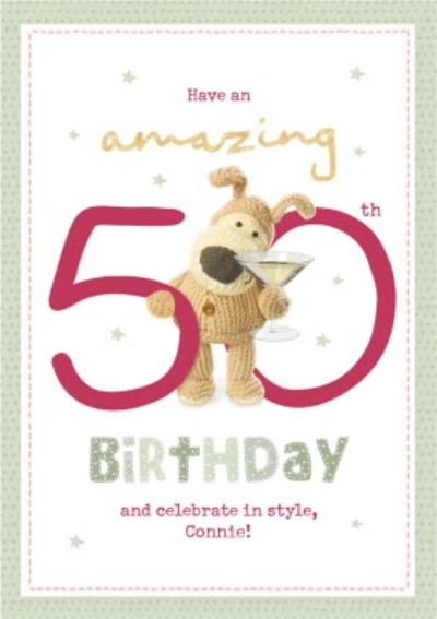 Boofle Have An Amazing 50th Birthday Card
