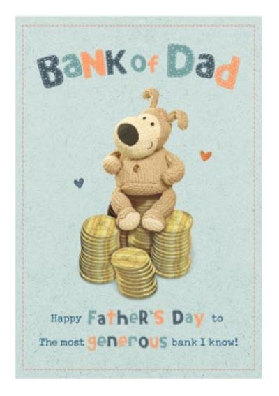 Boofle Bank Of Dad Father's Day Card