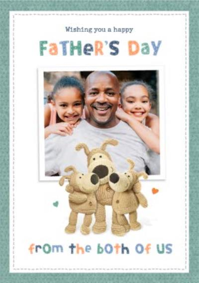 Boofle From Both Of Us Photo Upload Father's Day Card