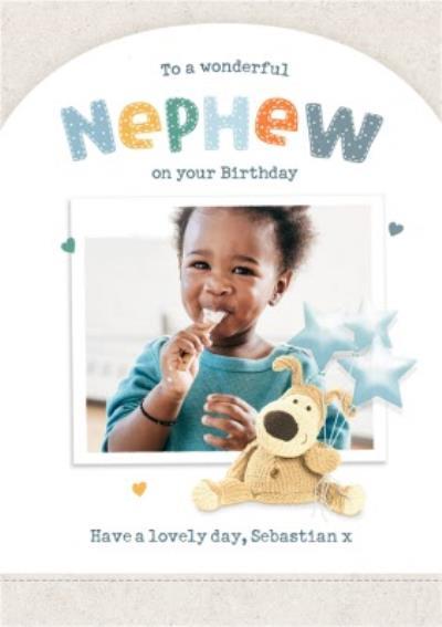 Boofle Wonderful Nephew Photo Upload Birthday Card