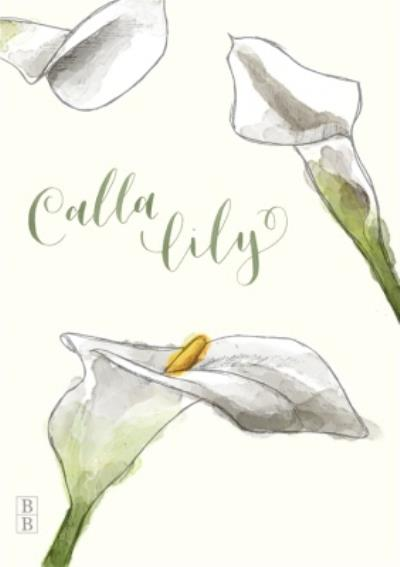 Illustrated Calla Lily Flowers Personalised Card
