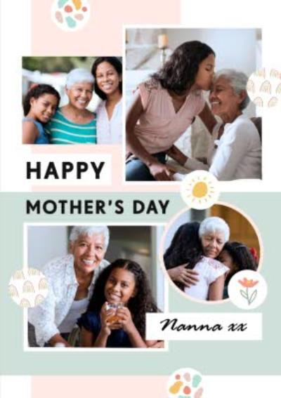 Cute Photo Upload Mother's Day Card For Nanna x