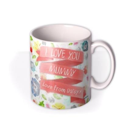 Mother's Day Watercolour Flowers Personalised Mug
