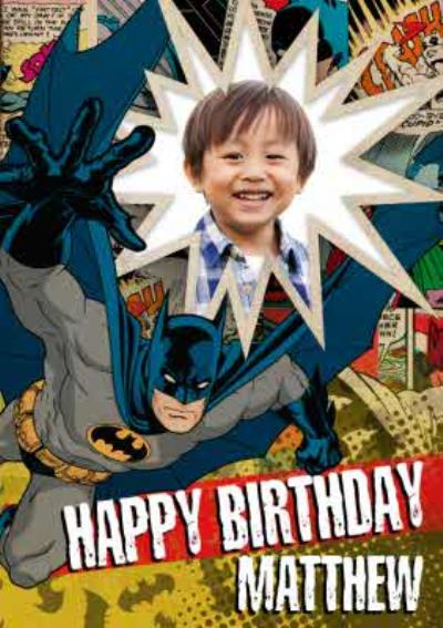 Batman Pow Personalised Photo Upload Happy Birthday Card