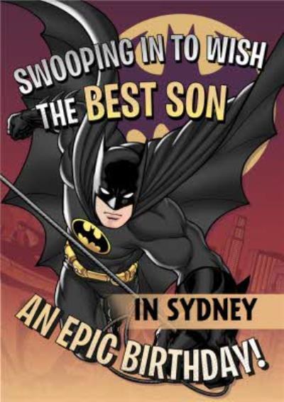 Batman To My Son Personalised Birthday Card