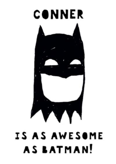 You're as awesome as Batman card - birthday card