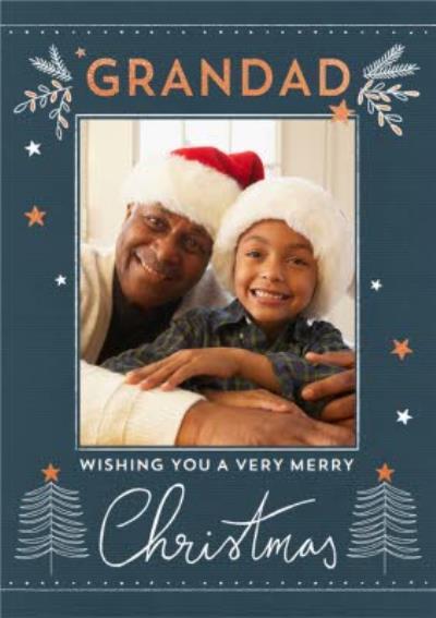Photo Upload Christmas Card For Grandad