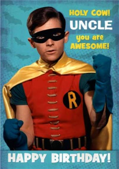 Batman 1966 Card - Holy Cow!  UNCLE  you are Awesome! - Happy Birthday