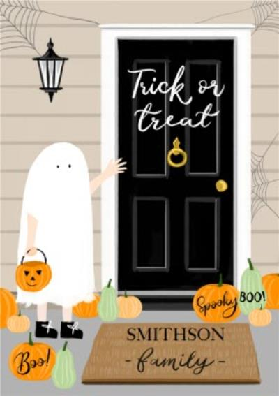 Boo To You Ghost Trick or Treat Halloween Card