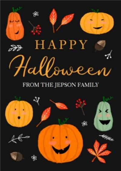 Boo To You Pumpkin Halloween Card
