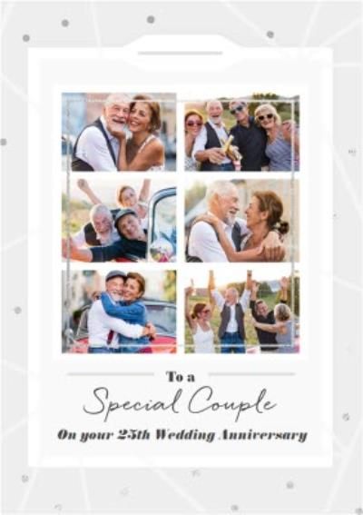 To A Special Couple On Your 25th Wedding Anniversary Photo Upload Card