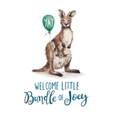 Kangaroo Joey Welcome Little Bundle Of Joy Card