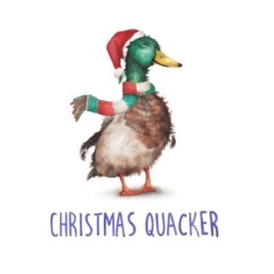Duck Christmas Quacker Pun Christmas Card
