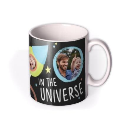 Best Daddy In The Universe Multi-Photo Custom Mug