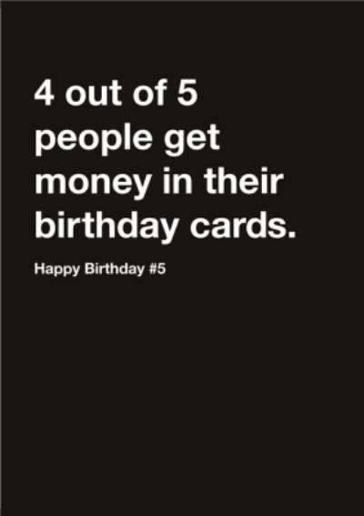 Carte Blanche Money Happy Birthday Card