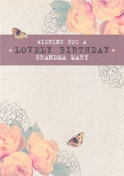 Pink And Peach Roses Have A Lovely Birthday Card