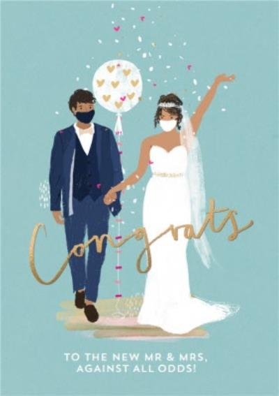 Congrats To The New Mr & Mrs Against All Odds Mask Card