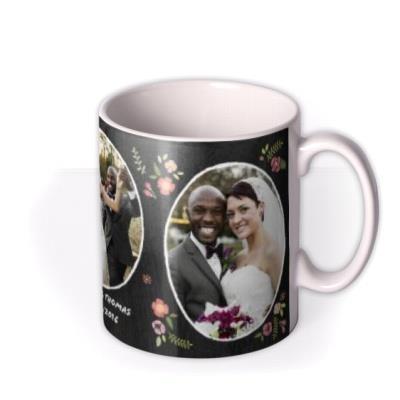 Wedding Day Chalkboard Photo Upload Mug