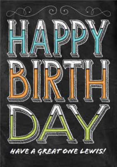 Personalised Happy Birthday Card