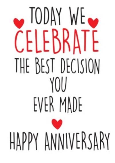 Funny Cheeky Chops The Best Decision You Ever Made Card