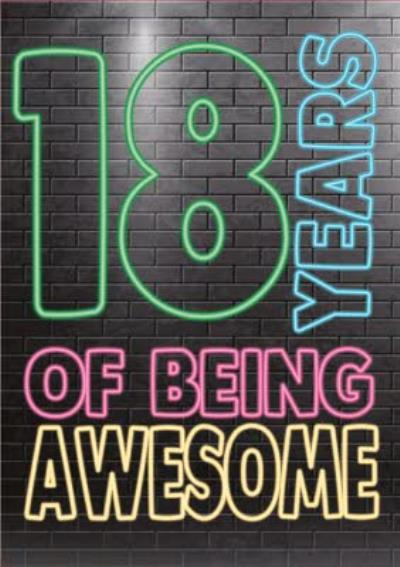 Cheeky Chops 18 Years Of Being Awesome Card