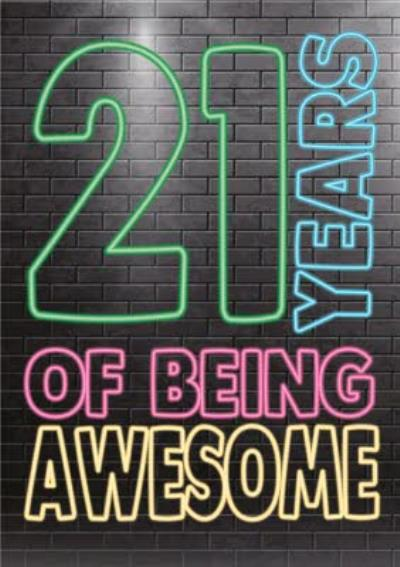 Cheeky Chops 21 Years Of Being Awesome Card