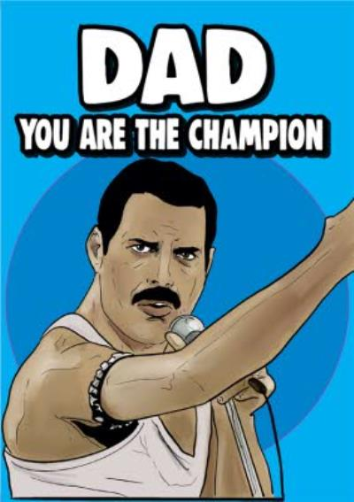 Cheeky Chops Dad You Are The Champion Card