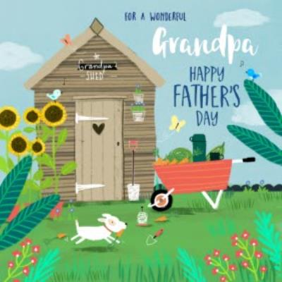 Grandpa's Garden Shed Father's Day Card