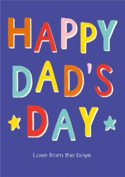 Typographic and Editable Happy Dad's Day Father's Day Card