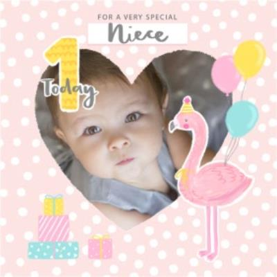 Cute Flamingo For A Very Special Niece 1 Today Photo Upload Birthday Card