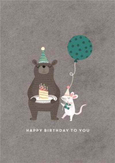 Chloe Turner Bear Happy Birthday To You Card