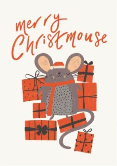 Merry Christmouse Cute Mouse Christmas Card