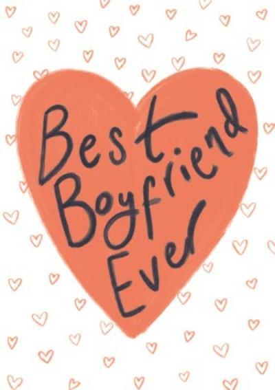 Best Boyfriend Ever Red Love Hearts Card