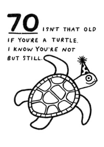 Pigment 70 Isn't That Old If You're A Turtle Funny Cheeky Birthday Card