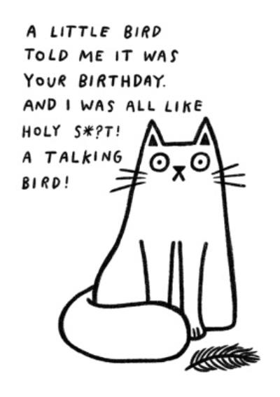 Pigment A Little Bird Told Me It Was Your Birthday Card