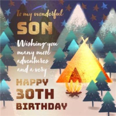 To My Wonderful Son Happy 30th Birthday Card