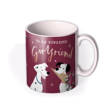 Disney Cute 101 Dalmatians Gorgeous Girlfriend Photo Upload Christmas Mug featuring Pongo & Perdita