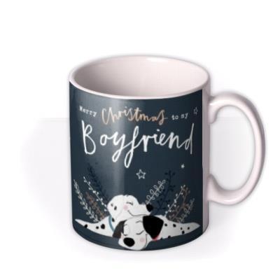 Disney Cute 101 Dalmatians Boyfriend Photo Upload Christmas Mug featuring Pongo & Perdita