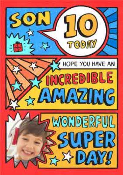 Comic Strip Spoof Photo Upload Birthday Card
