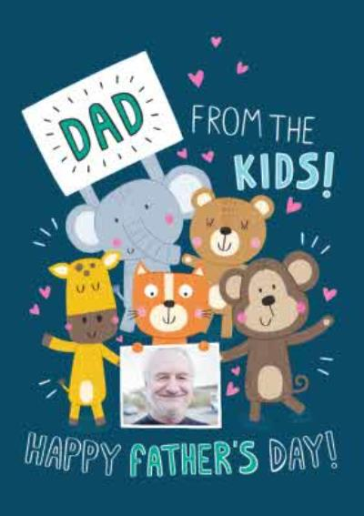 Cute Illustrations Animals Dad From The Kids Happy Fathers Day