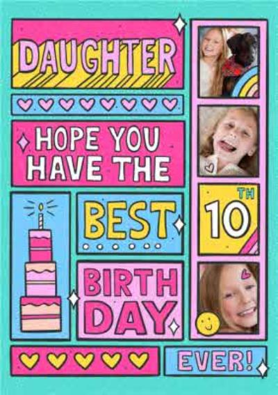 Spoof Comic Strip Daughter Photo Upload 10th Birthday Card