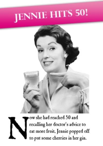 Funny 50th Birthday Card